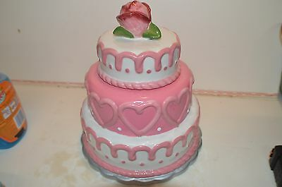 Rare Davids Cookie Sweetheart Cake Wedding Cookie Jar Collectible Limited Editio