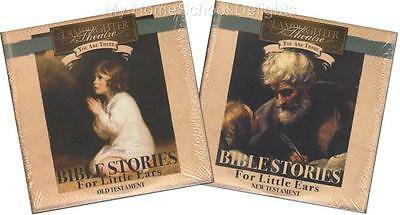 NEW 2 Sets Lamplighter Theater Audio 4 CD BIBLE STORIES FOR LITTLE EARS OT NT