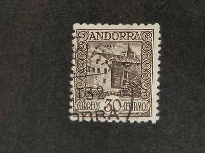 Spanish Andorra, Scott# 19a used (Control # on Back)