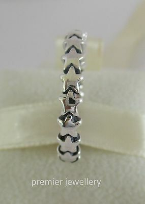 Authentic Genuine Pandora Sterling Silver Star Trail Ring 190911 - 56