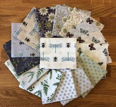 The Botanist Lewis and Irene Bees Dragonflies Plants Quilting Fabric Patchwork