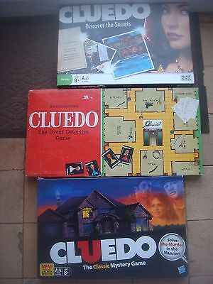 Waddingtons Hasbro All Standard Cluedo Spare Murder Weapons Playing Pieces Cards