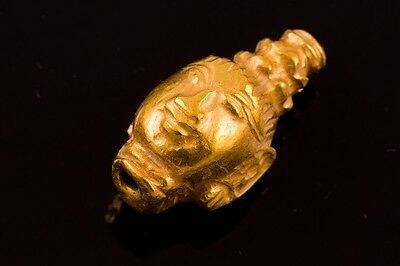 Rare Authentic Ancient Solid Gold Pyu Bead