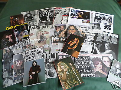 Ozzy Osbourne   - Rock Music  - Clippings /cuttings Pack
