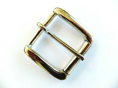 "N - Heavy [1.5"" - 38 mm] NICKEL WEST END SINGLE ROLLER BUCKLE Leather craft"