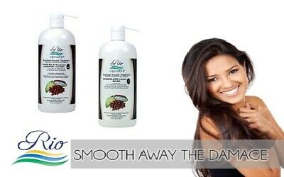 Rio Chocolate Brazilian Keratin Blowdry Hair Treatment +Mask+Shampoo+Conditioner