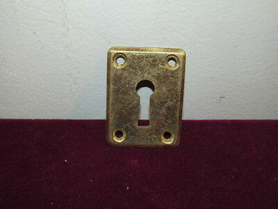 Antique Heavy Brass Victorian Skeleton Key Cover Plate VFC