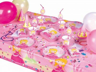 prinzessin kindergeburtstag party m dchen rosa pink deko set partygeschirr feier eur 2 39. Black Bedroom Furniture Sets. Home Design Ideas