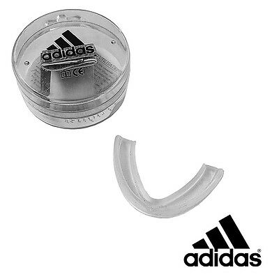 Adidas Single Gum Shield Adult Mouth Guard Clear Free Case