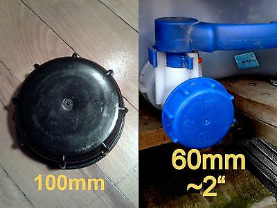 """IBC 1000l TANK WATER CONTAINER CAP 2"""" 60 mm  / 4"""" 100mm 10cm S100X8"""