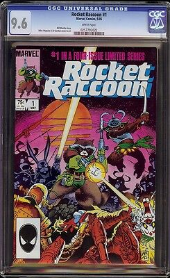 Rocket Raccoon # 1 CGC 9.6 White (Marvel, 1985) 1st Rocket in solo series