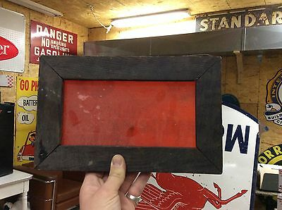 "GORGEOUS (RED) stained glass window-12 3/16"" X 7 9/16""-WOW-REPURPOSE-DECOR-25"