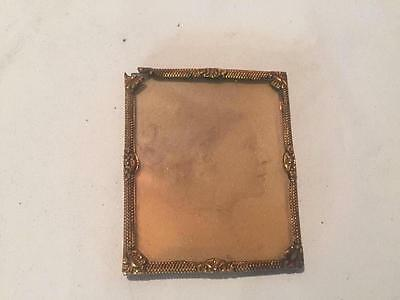 1860's Antique Vintage Victorian Civil War Era Copper PICTURE FRAME Photograph