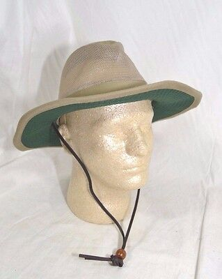61364756aff3f Dorfman Pacific Global Trends Brushed Twill Safari Hat Mesh Olive Green M  or L