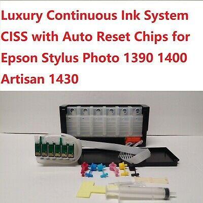 EMPTY CONTINUOUS INK System CISS for Epson Stylus Photo 1390 1400