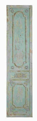 """78"""" Blue Green Distressed Door Wood Wall Panel Shabby Country Decor"""