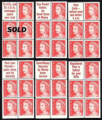 1966 QE2 4c Helecon INK booklet pane  Superb MNH. Buy 1,2,3 or all 6   $19.80 ea