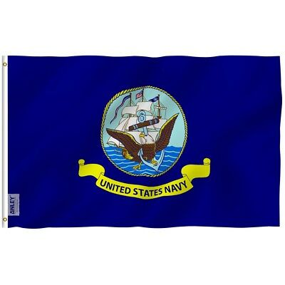 ANLEY US Navy Flag United States Military Banner Polyester 3x5 Foot Flag