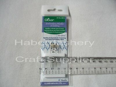 Embroidery Needles For Smocking 6 Assorted Sizes