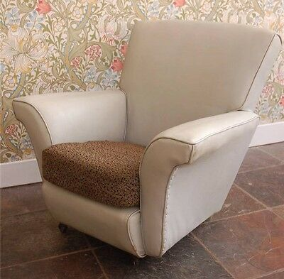 Unique Child's Retro Leatherette Armchair, 1960's - 1970's - Upholstery Project?