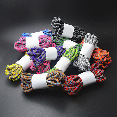 Round Rope 3M Reflective Lace 4mm Wide Color Athletic Sport Sneakers Shoelaces
