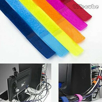 10pcs New Style Cable Ties Nylon Strap Power Wire Management Marker Straps CUB