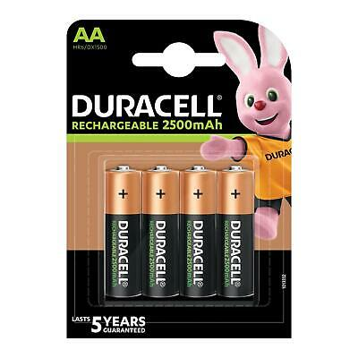 8x Duracell AA 2500mAh Duralock Ni-Mh Rechargeable Batteries.
