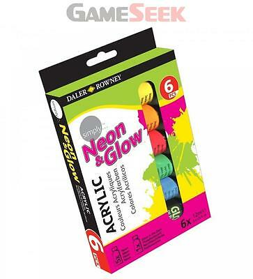Daler Rowney Neon and Glow Acrylic Paint