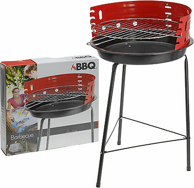 BBQ Grill Charcoal Barbecue 33 cm Round Freestanding Coal Outdoor Camping BBQ