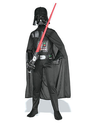 Child Ages 8-10 Years Licensed Star Wars Darth Vader Party Fancy Dress Costume