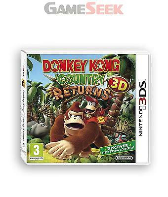 Donkey Kong Country Returns 3D - Nintendo 3Ds Brand New Free Delivery