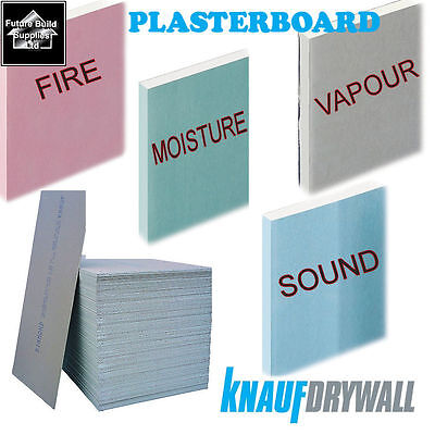 Plasterboard Sheets Standard Sound Proof Moisture & Fire in Tapered or Square