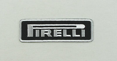 Pirelli Iron or sew on embroidered patch tyre tyres motorsport racing Black