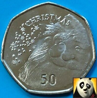 2015 GIBRALTAR 50p Fifty Pence Santa Claus CHRISTMAS XMAS Unc 7 Side Coin