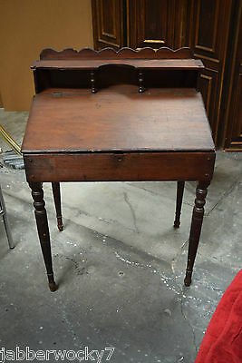 Antique Slanted Lift Top Desk