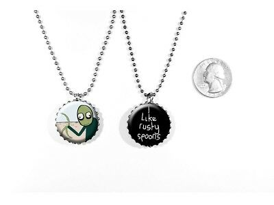 Salad Fingers Rusty Spoons Quote David Firth 2 Sided Necklace