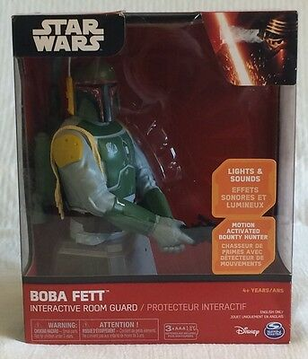 Star Wars Boba Fett Interactive Room Guard - Motion Activated - New