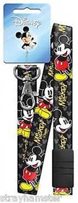 Mickey Mouse Lanyard Classic Disney Breakaway ID Holder NWT Black key chain