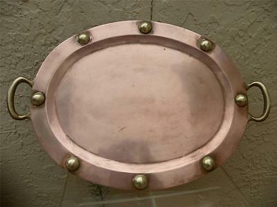 Arts Crafts Mission Hand Hammered Copper Repousse Gorgeous Tray