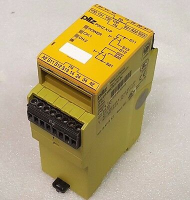 Pilz P2HZ X1P 24VDC 3n/o 1n/c Two Hand Control Unit 777340, Safety Relay