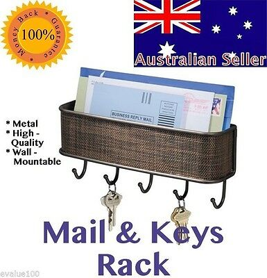 key and mail holder for wall mounted letter organizer hanging home keys hooks
