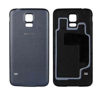 Original OEM leather battery back cover For Samsung Galaxy S5 GT-i9600 Black