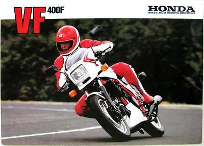 HONDA VF400F-D Motorcycle Sales Brochure 1983