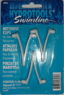 Hydrotools Swimline Butterfly 3 X Wish Bone Clips For Swimming Pool/spa
