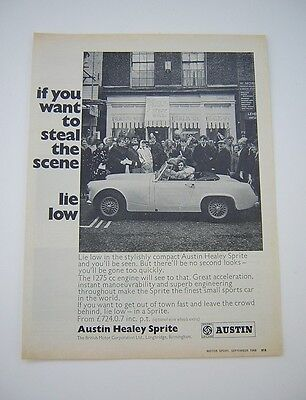 Austin Healey Sprite Advert from 1968 - Original - BMC