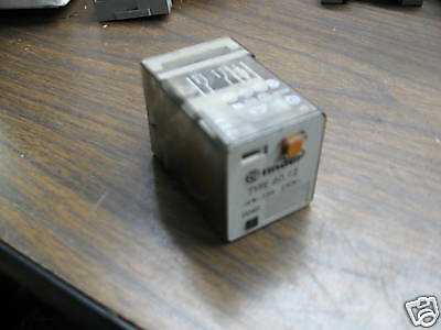 Finder Relay Cube Type # 60.12, Used, Warranty