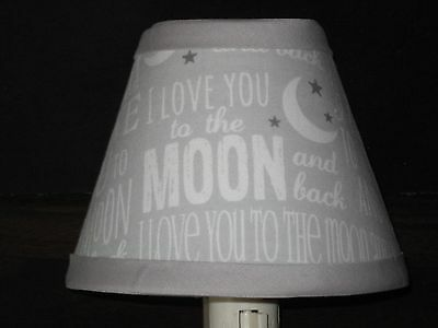 Love You to the Moon and Back Fabric Nursery Night Light