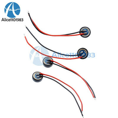 10PCS 4*1.5mm Electret Condenser Microphone MIC Capsule 2 Leads W