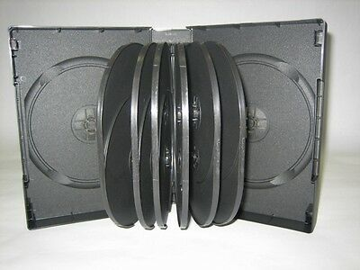 """2 Top Quality Multi-14 Disc Dvd Cases, Black, 1 3/4"""" Or 44Mm Usps Priority  Dh14"""