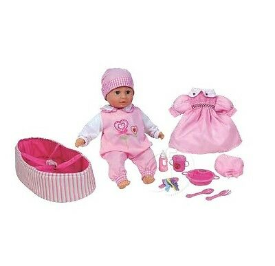 Lissi Rosa Speaking Doll With Changable Clothing Baby Carrier & Feeding Accessor